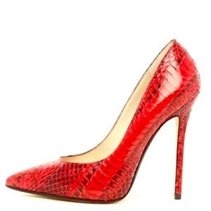 Michael Kors Red Python Heels